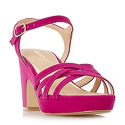 Head Over Heels by Dune - Pink 'Jaclyn' mid platform ankle strap sandals