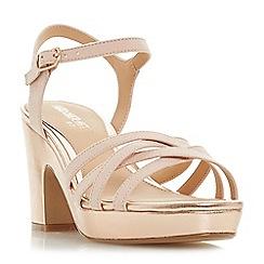 Head Over Heels by Dune - Rose 'Jaclyn' mid platform ankle strap sandals