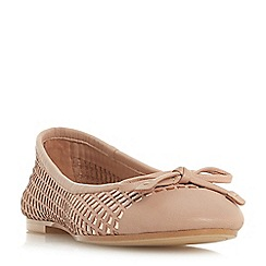 Dune - Natural leather 'Hennah' ballet pumps