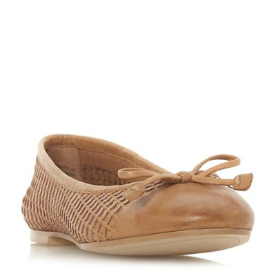 Dune ballet - Tan leather 'Hennah' ballet Dune pumps 165664