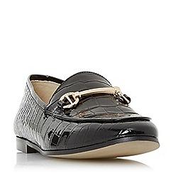 Dune - Black leather 'Guilt' loafers