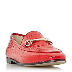 Dune - Red leather 'Guilt' loafers