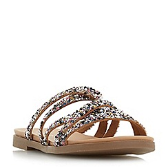 Head Over Heels by Dune - Multicoloured 'Leoney' t-bar sandals