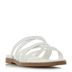 Head Over Heels by Dune - White 'Leoney' t-bar sandals