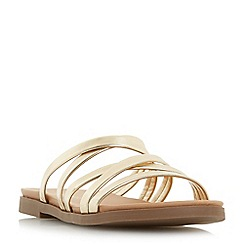 Head Over Heels by Dune - Gold 'Leoney' t-bar sandals