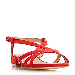 Head Over Heels by Dune - Red 'Nebular' ankle strap sandals