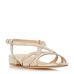Head Over Heels by Dune - Gold 'Nebular' ankle strap sandals