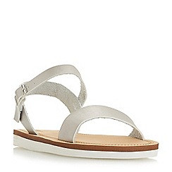 Head Over Heels by Dune - Silver 'Lizett' ankle strap sandals