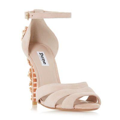 Dune - Light pink suede 'Maisonn' ankle strap sandals