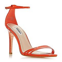 78fc55719610 Dune - Orange  Marabella  high stiletto heel ankle strap sandals