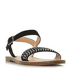 Head Over Heels by Dune - Black 'Lira' mule slippers
