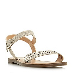 Head Over Heels by Dune - Gold 'Lira' mule slippers