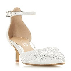 Head Over Heels by Dune - Silver 'Caitlin' court shoes