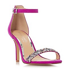 Head Over Heels by Dune - Pink 'Meeva' ankle strap sandals
