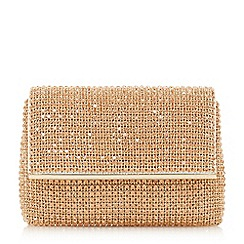 Dune - Rose 'Everlina' diamante embellished clutch bag