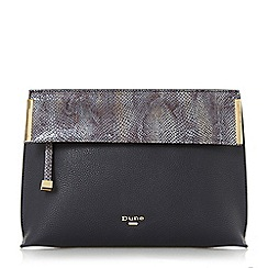 Dune - Navy 'Eccles' fold over clutch