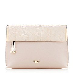 Dune - Light pink 'Eccles' fold over clutch