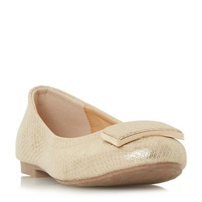 Roberto Vianni - Gold leather 'Hilva' ballet pumps