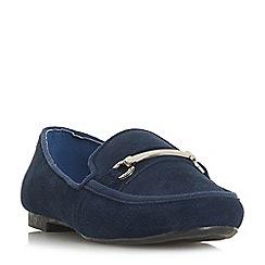 Roberto Vianni - Navy suede 'Gabriele' loafers