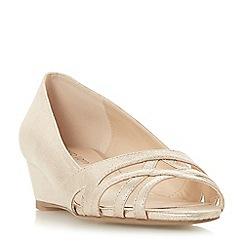Roberto Vianni - Gold 'Clare' wedge heel peep toe sandals