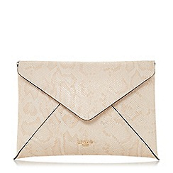 Dune - Natural 'Enria' envelope clutch bag
