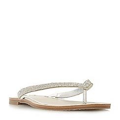 Dune - Silver 'Lou-lou' t-bar sandals