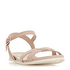 Dune - Light pink leather 'Loco' t-bar sandals
