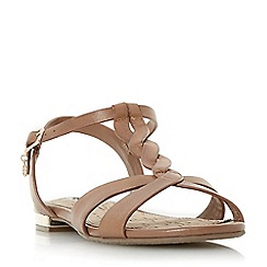 4dcf372bf87a Dune - Tan leather  Lottery  block heel t-bar sandals