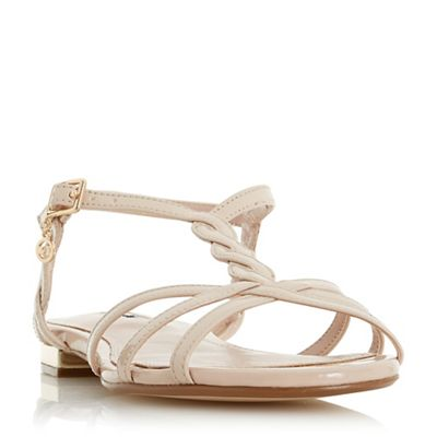Dune - Light pink 'Newark' ankle strap sandals