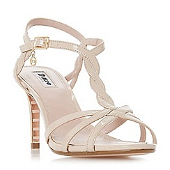 Dune - Natural 'Mystick' ankle strap sandals