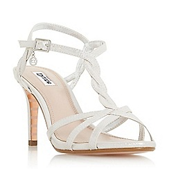 Dune - Silver 'Mystick' ankle strap sandals
