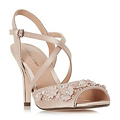 Roland Cartier - Natural satin 'Maggee' high stiletto heel ankle strap sandals