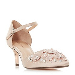 Roland Cartier - Natural satin 'Dixxy' kitten heel court shoes