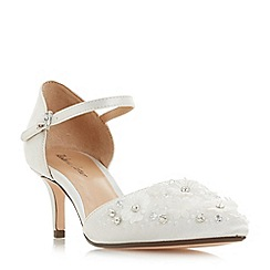 Roland Cartier - Ivory satin 'Dixxy' kitten heel court shoes