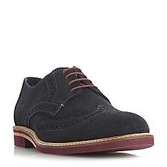 Dune - Navy 'Benitez' coloured sole brogue shoes