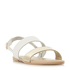 Head Over Heels by Dune - White 'Loreta' ankle strap sandals