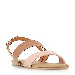 Head Over Heels by Dune - Tan 'Loreta' ankle strap sandals