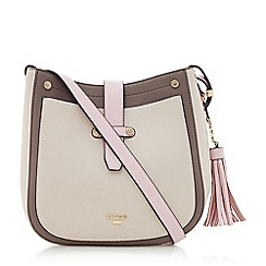 Dune - Pink 'Danao' tassel charm cross body bag