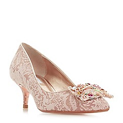 Dune - Rose 'Beaumonte' kitten heel court shoes