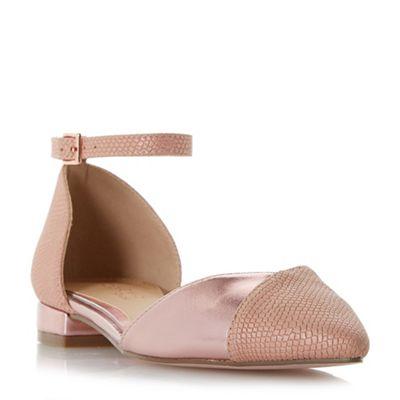 Head Over Heels by Dune - Pink 'Hoolaa' ballet pumps