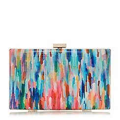 Dune - Multicoloured 'Brocco' gold trim clutch bag