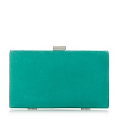 Dune - Green 'Brocco' gold trim clutch bag