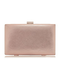 Dune - Rose 'Brocco' gold trim clutch bag