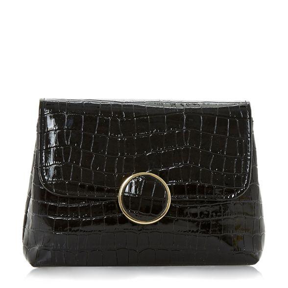 croc Black clutch foldover Dune bag 'Bayer' q4xUWwF