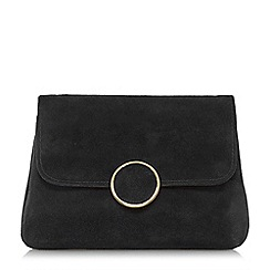 Dune - Black 'Bonie' fold over clutch