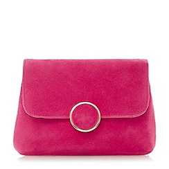 Dune - Pink 'Bonie' fold over clutch
