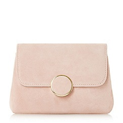Dune - Light pink 'Bonie' fold over clutch