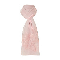 Dune - Natural 'Lannah' floral embroidered scarf