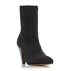 Dune - Black 'Ralley' mid block heel calf boots