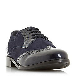 Dune - Navy leather 'Foxxy' lace-up shoes